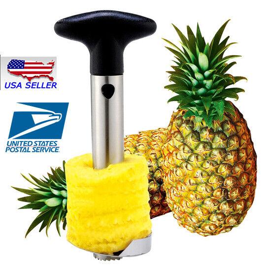 USA SELLER! New Stainless Steel Fruit Pineapple Peeler Corer Slicer Kitchen Tool