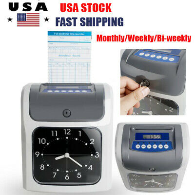 Electronic Employee Analogue Recorder Time Clock Wcard Monthlyweeklybi-weekly