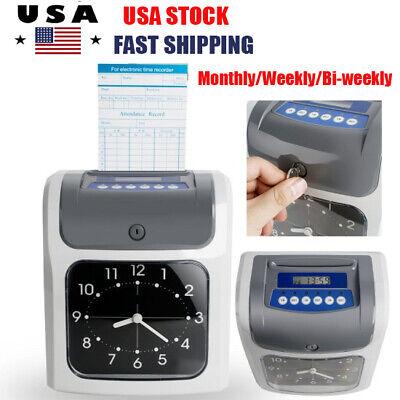 Electronic Employee Analogue Recorder Time Clock Wcard Monthlyweeklybi-weekly