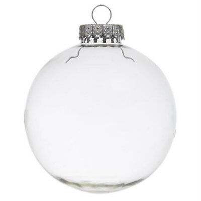 DIY Clear Fillable Paintable Christmas Plastic Tree Decoration Ornament 4