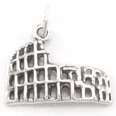 ROMAN COLOSSEUM Italy Rome coliseum TRAVEL Charm Pendant 925 STERLING SILVER