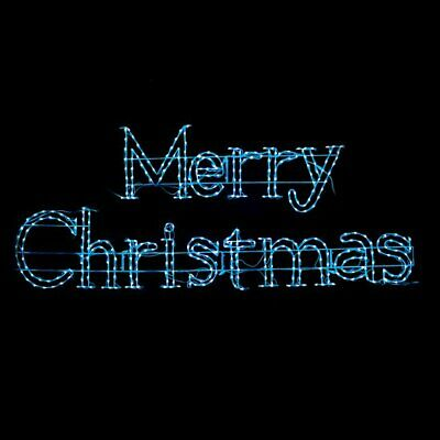 Animated Color Changing RGB Merry Christmas LED Light Display Outdoor Yard Sign