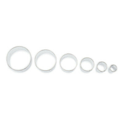 Ausstecher Ausstechformen Set rund-glatt 6-tlg. 10/14/20/30/40/49 mm Kreis