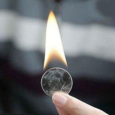 PYRIS VOLCANIC COIN + EXTRA INFO-NOT FOR CHILDREN FIRE CLOSEUP PARTY MAGIC TRICK
