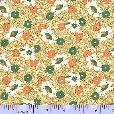 50 in~EOB~AUNT GRACE~GRACIE'S SCHOOLHOUSE CLASSICS~542-333~YELLOW ORANGE FLOWERS