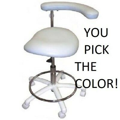 New Galaxy 2065 Contoured Dental Assistants Hygienist Seat Stool Chair