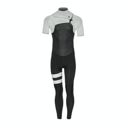 New $220 Mens Hurley Advantage Plus 2/2 ShortSleeve Wetsuit Grey ST MS M MT LS L