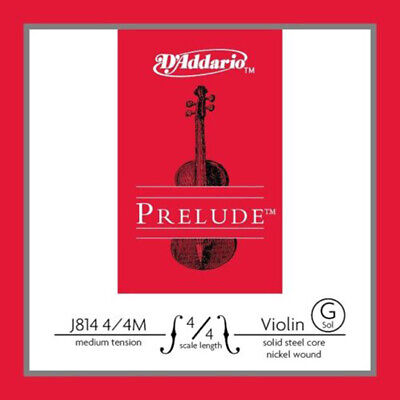 D'addario J814 4/4M Prelude Violin Single G String, Medium Tension 4/4 Scale