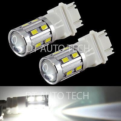 2X 3157 460 Lumen White Daytime Running Projector Cree+5630 Chip LED Light Bulbs