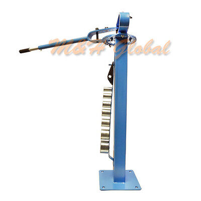 Mountable Compact Bender Pedestal Manual Bending Metal Fabrication 7 Dies 1-3