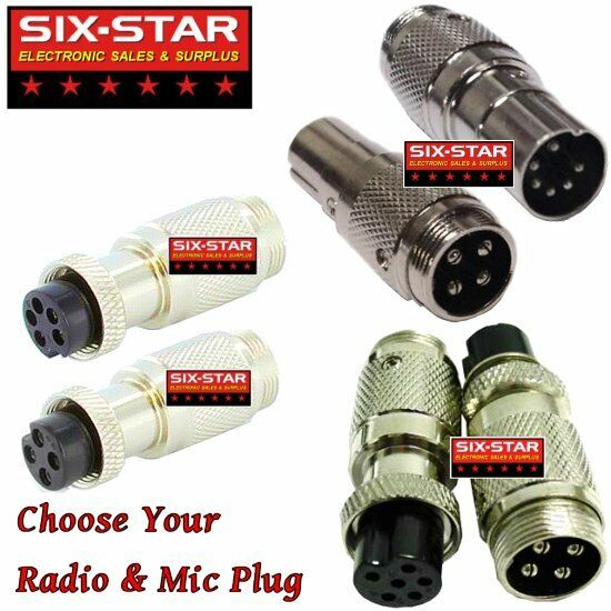 MIC ADAPTER CONVERTS ANY COBRA WIRED MIC TO MOST CB & 10 MET