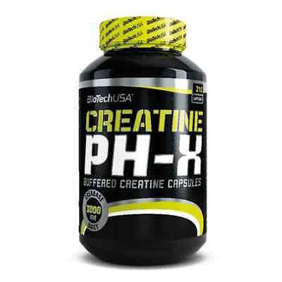 Biotech USA Creatine pH-X BUFFERED CREATINE 210 caps FREE WORLD SHIPPING !