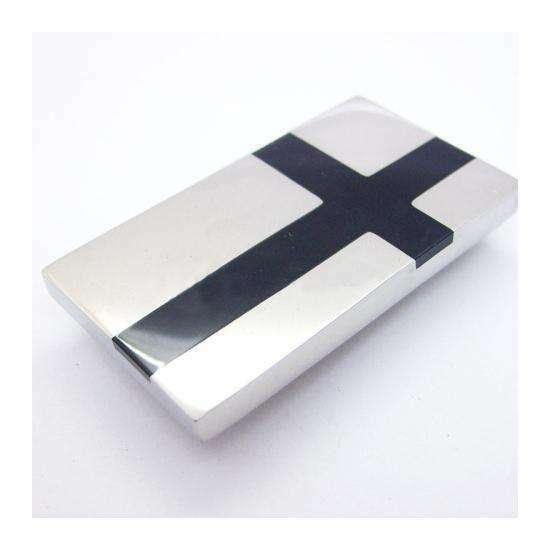 Black+Cross+Inlay+Stainless+Steel+Money+Clip