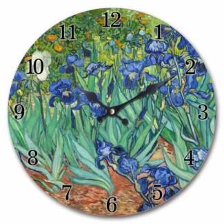 Art Wall Clock : Van Gogh Irises
