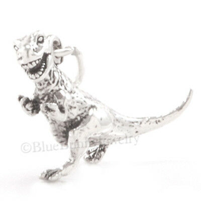 3D Tyrannosaurus Rex DINOSAUR 925 Sterling Silver Pendant solid .925 Charm T-Rex