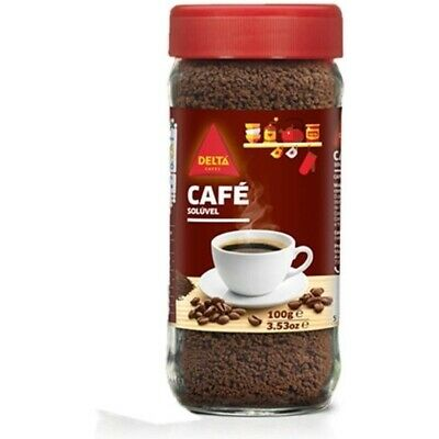 CAFÉ SOLUBLE DELTA, TARRO CON 100G ALTA CALIDAD SPAIN EUROPA