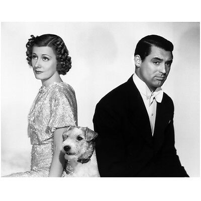 Cary Grant Seated with Woman and Dog 8 x 10 Inch Photo