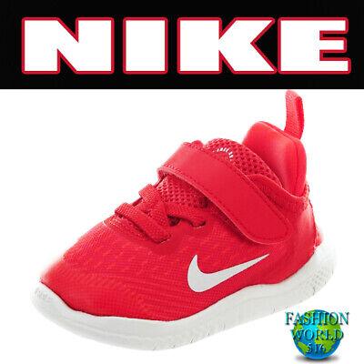Nike Size 8C FREE RN 2018 (TDV) Toddler Running Shoes AH3453 600 NIB Speed Red