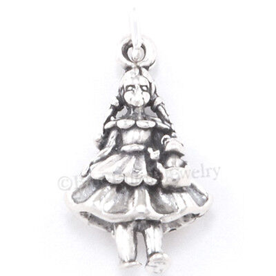 3D WIZARD of OZ DOROTHY & TOTO Dog Bracelet Charm Pendant in 925 STERLING SILVER](Wizard Of Oz Dogs)