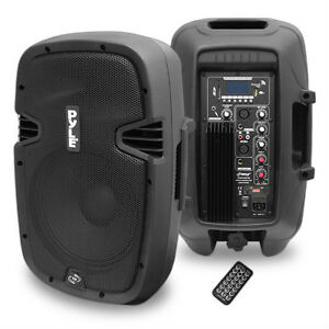 PylePro (PPHP1037UB) 10'' 700 Watt Powered Two-Way Speaker With MP3/USB/SD/Bluetooth Streaming & Record Function