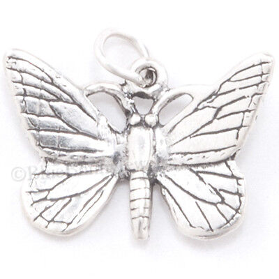 - BUTTERFLY Monarch charm Pendant Garden Beautiful Insect STERLING SILVER 925 .925