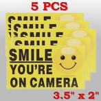5Pcs Smile You're On Camera Self-adhensive Video Alarm Sa...