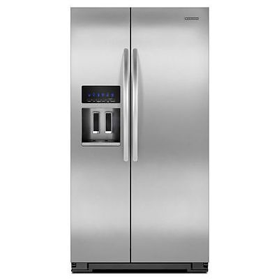 ثلاجة جديد KitchenAid® 23 Cu. Ft. Counter-Depth Side-by-Side Refrigerator KSC23C8EYY