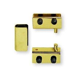 H17255 BP Brass Plate Glass Door Pivot Hinge SET W Door