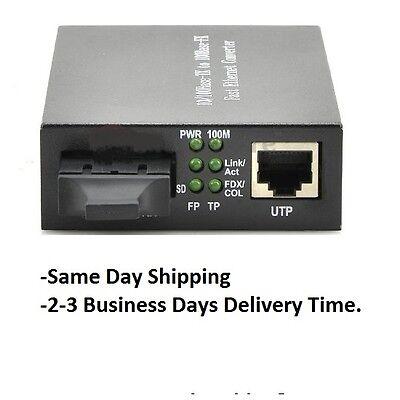 10/100/1000 Mbps-Tx Gigabit Single-Mode Fiber Ethernet Media Converter SC 15km