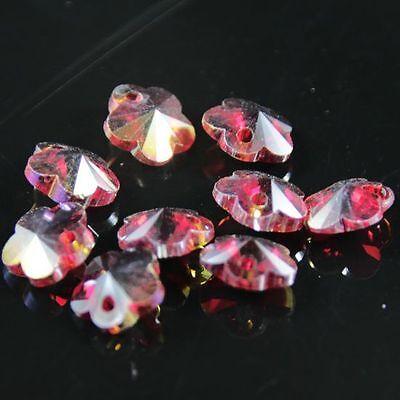 12pcs Swarovski 8mm plum blossom shape Crystal beads E Red