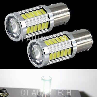 2X 900 Lumen 1157 High Power Chip LED White Front Turn Signal Light Bulbs Lamp