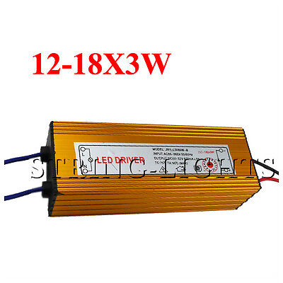Constant Current Driver for 18 pcs 3W High Power LED 12-18x 3W Driver waterproof on Rummage