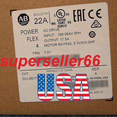 Perfect Allen-bradley Powerflex 4 22a-b017n104 Ac Drive3.7 Kw5hp240v Frn 7.01