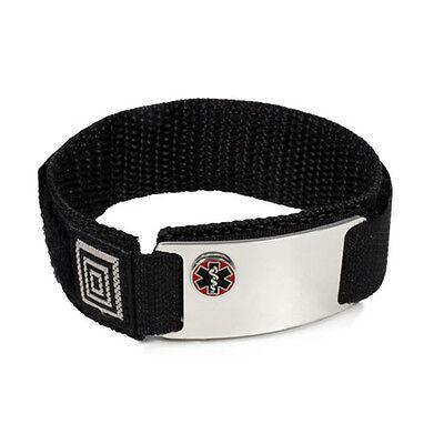 Medical Medical Id Bracelet - Sport Medical Alert ID Bracelet  Emblem with Raised Emblem. Free Card, engraving