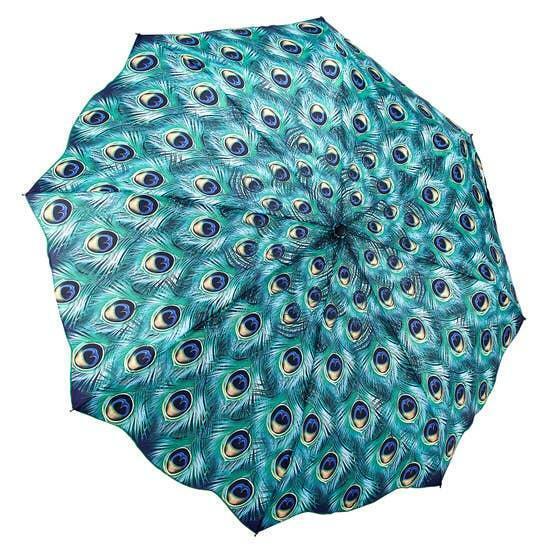 Peacock Galleria Folding Umbrella Portable Auto Open/Close