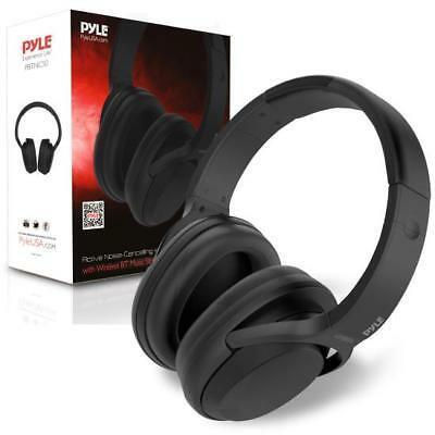 Pyle Active Noise Cancelling Headphones With Bluetooth Wireless Music Streaming