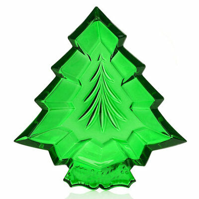 "Marquis by Waterford 7"" Wedge Cut Crystal Christmas Tree Tray"