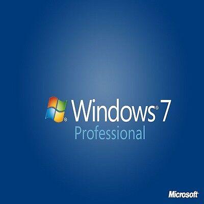 ORIGINAL WINDOWS 7 PRO 32 / 64BIT OEM GENUINE COA LICENSE KEY SCRAP PC