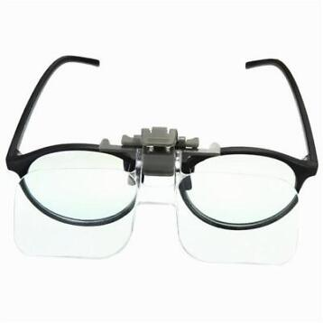 HD Lens Precise Clip On Clear Folding Magnifying Glasses ...