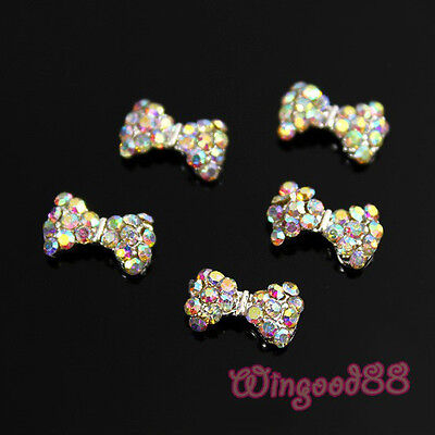 10/50/100pcs 3D Alloy Glitters AB Rhinestone Crystal For Nail Art DIY Decoration on Rummage