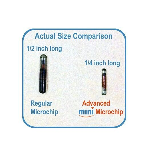 Pro-ID Microchip Pet Microchip MINI CHIP 134KHZ, ISO 25 Pack  - $175.00