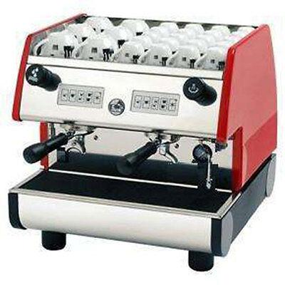 La Pavoni Commercial Espresso Machine Maker PUB 2V-R Red, 2 Group, Volumetric