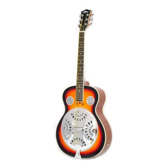 Pyle 6-String Acoustic Resonator Guitar, Full Scale Resophon
