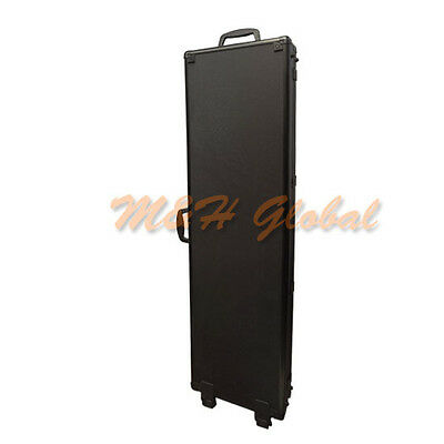 "53"" Long Rifle Gun Storage Case with Wheels Aluminum Alloy Frame"