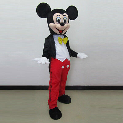 Hot Mickey Mouse Mascot Costume Halloween Party Cosplay Dress Outfit Suit Adult (Hot Celebrities Halloween Costumes)