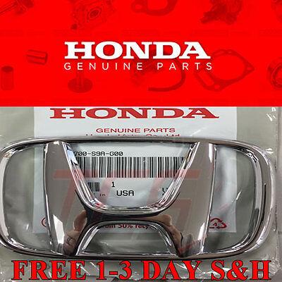 Honda Accord 03-07 CRV 05-09 4Dr Sedan Front Grille H Emblem Chrome NEW GENUINE
