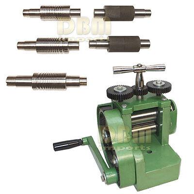 Rolling Mill Machine 3 80mm Wire Flat Pattern Roller Sheet Metal 7 Dies