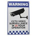 CCTV Warning Sign Sticker Security Video Surveillance Cam...