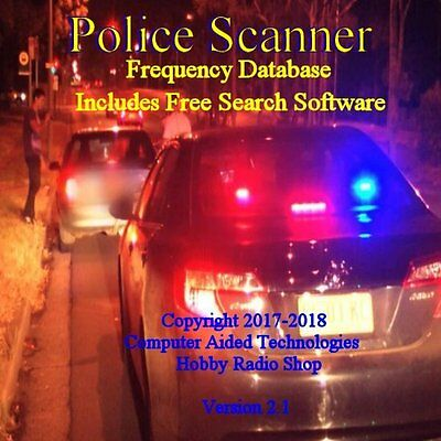 2018 Mr.scanner Single State Frequency Database Cd Police-fire-ems-businesses