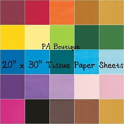 """*28 COLORS!!* Tissue Paper for Gift Wrapping 20""""x30"""" Solid S"""